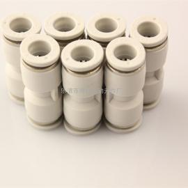 原装亚德客白色塑料直通变径快插接头PG12-8/PG16-12