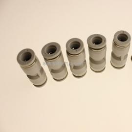 原装正品亚德客白色塑料直通快插接头PU4/PU6/PU8气动快速接头