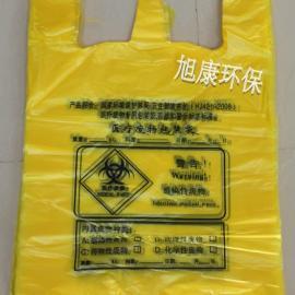 厂家直销医疗垃圾袋 58*70 1.5丝医疗废物包装袋 手提式医疗垃圾�