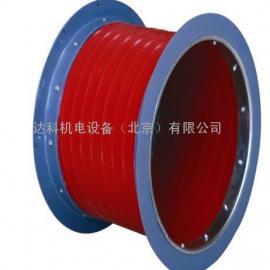 工业通风软接-不燃弹簧增强硅玻软接