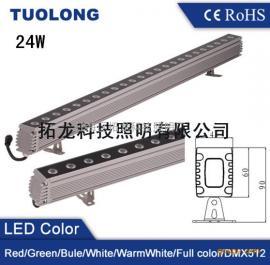 36W黄光外墙LED洗墙轮廓灯