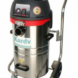 凯德威45L工业吸尘器GS-1245 不锈钢干湿两用吸尘器