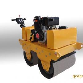 手扶式双轮压路机 手扶式双钢轮压路机 小型压路机
