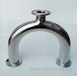 卫生级快装U型管 不锈钢快装U型三通