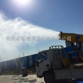 郑州工地降尘喷雾机,工地远射程降尘雾炮