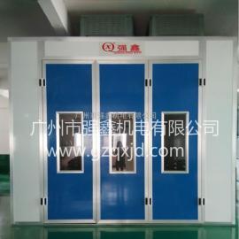 供应广州强鑫标准型汽车喷烤房、红外线电加热烤漆房厂家报价