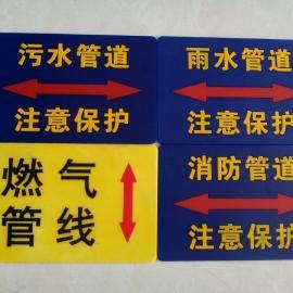 镶嵌式橡胶地贴 耐磨走向标识贴 燃气警示地贴电力地贴标志牌