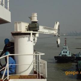 上海邦鼎BANGDING1t6m公务船折臂伸缩吊机