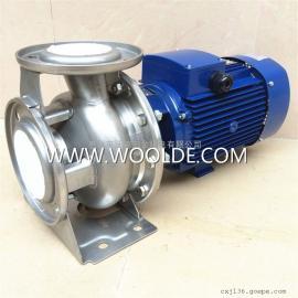 沃德不锈钢卧式管道离心泵WDGZ80-18-3 低温盐水泵