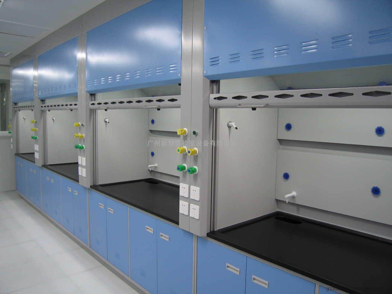 实验台柜可做为钢木结构,全钢结构,落地式,悬吊式
