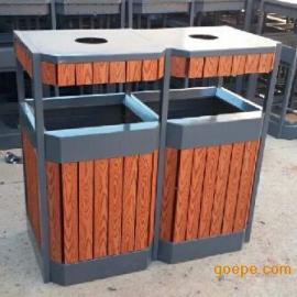 定做塑木分类垃圾桶、金属分类垃圾桶、街道垃圾桶