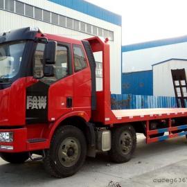 解放J6小三轴平板运输车、平板拖车、挖掘机平板拖车