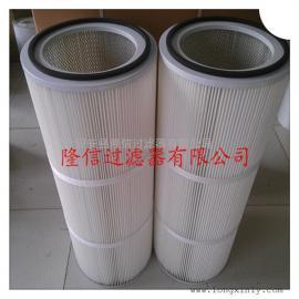 隆信供应覆膜高精度除尘滤芯 聚酯纤维防静电除尘滤芯