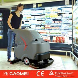 扬州工厂用洗地机 高美全自动双刷洗地机GM70BT