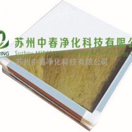 百级净化室专用玻镁岩棉彩钢板 净化工程专用玻镁岩棉彩钢净化板