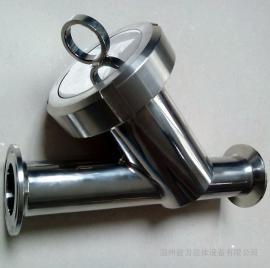 304不锈钢过滤器 卫生级快装Y型过滤器 温州毅力厂家直销