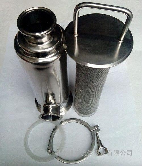 厂家直销304不锈钢角式过滤器 卫生级快装直角管道过滤器