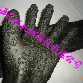徐州光面乳胶喷砂手套 加厚65公分长乳胶喷砂防护手套