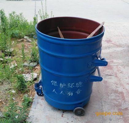 大量现货圆形大铁桶 小区铁皮垃圾桶 垃圾中转箱