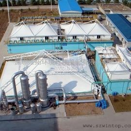 膜结构工程,膜结构厂家,废臭气收集与净化整体解决方案服务商