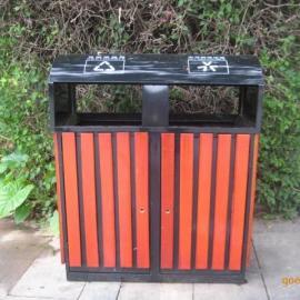 优质户外木条垃圾桶 钢木分类垃圾桶 小区环保垃圾箱