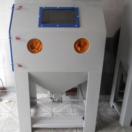 箱式喷砂机KH-6050A,五金工件除锈去氧化皮手动喷砂机