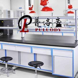 普洛帝品牌pull系列钢木中央实验台检测台清洁台