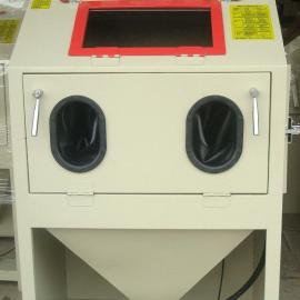 去氧化皮用KH-9080A箱式手动喷砂机 除锈用手动喷砂机