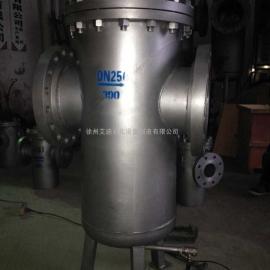 中央空调用大型DN400不锈钢304直通篮式过滤器