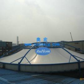 沉淀池反吊膜加盖 过滤池反吊氟碳纤维膜结构工程 专业厂家