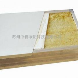 P2实验室单玻镁岩棉板 无尘车间玻镁岩棉彩钢板 工厂直销