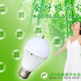 生命灯 健康灯 负离子空气净化灯 LED净化灯 吸烟灯