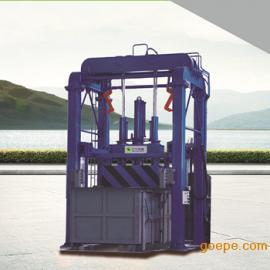 四柱垂直垃圾压缩站