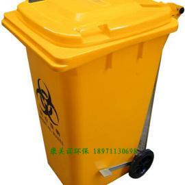 湖北厂家直销240L医疗废物周转桶|黄色周转桶