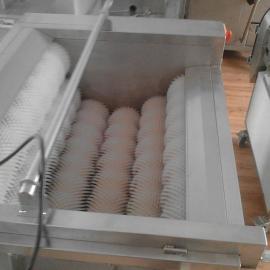 河南全自动土豆萝卜清洗去皮机,蔬菜洗菜机滚动清洗