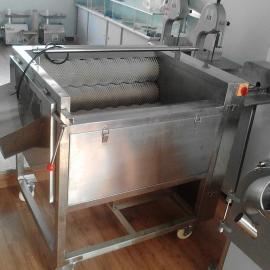 成都多功能土豆萝卜清洗去皮机,中草药洗菜机滚动清洗