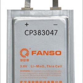 孚安特CP383047方形软包锂电池FANSO有源标签电池