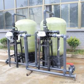 3级7吨大型深井水过滤机井水过滤净水器地下水除铁除锰过滤器