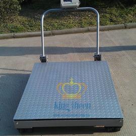 【可折叠】2T碳钢移动磅秤  尺寸0.8m×1.0m推车地磅