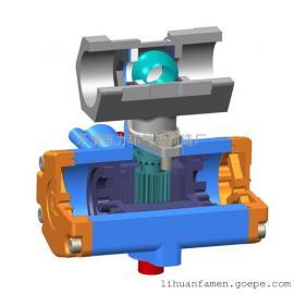 一片式双作用气动球阀1PC-20 不锈钢304
