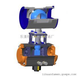 不锈钢304一片式双作用气动球阀1PC-80