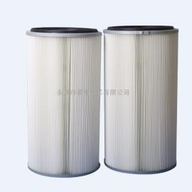 除尘器滤筒 聚酯纤维无纺布滤筒 喷塑粉末回收专用滤筒