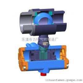 不锈钢304二片式气动球阀双作用2PC-25