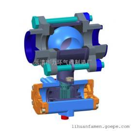 不锈钢304三片式双作用气动球阀3PC-32