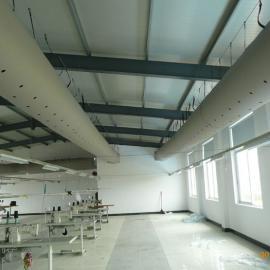 新风机中央空调风柜专用纤维织物阻燃布风管布袋风管
