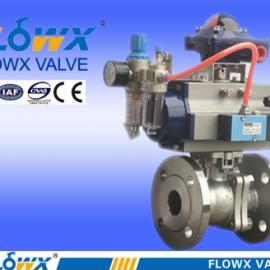 气动法兰球阀FPE2000-23F5、SS316、DN80