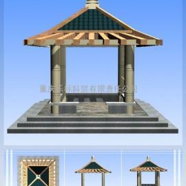 贵州遵义凉亭 菠萝格栅栏 碳化木栅栏 柳桉木花架 防腐木廊道丨