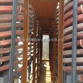 厂价直销晋城洗煤螺旋溜槽 1米5选煤螺旋 选赤铁螺旋溜槽