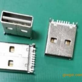 USB 2.0正反插公头(双面插沉板镀金不分正反插)