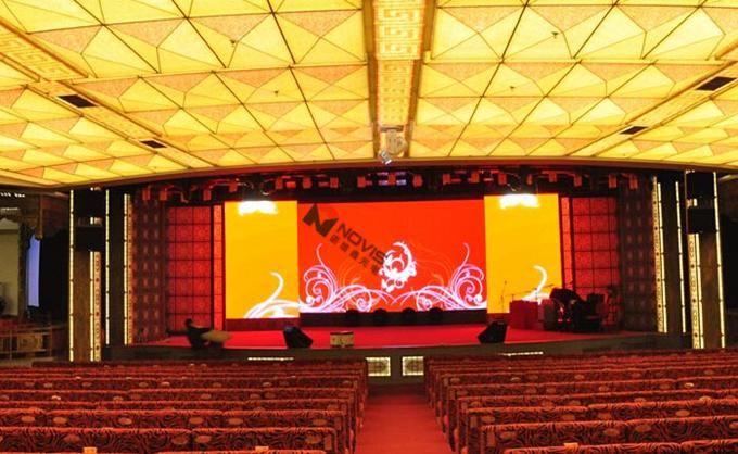 礼堂安装led全彩显示屏|舞台背景大屏幕价格图片